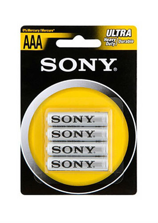 4-pack AAA Batterier Sony